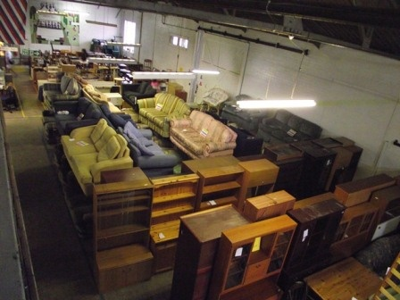 The Melton And District Furniture Project's Warehouse From The Inside